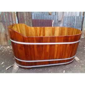 Bathtub Tradisional Handmade dari Kayu