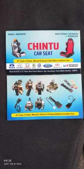 CHINTU CAR SEATS..seat belt innova cresta i20 scorpio thar xylo xuv
