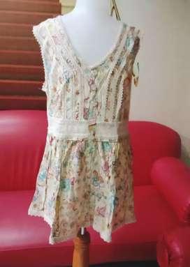Atasan/blouse Anak remaja Katun adem motif batik berenda murah