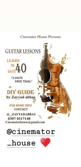 Learn complete guitar in just 40 days! Online guitar classes!