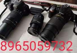 Rent Nikon d5600 & canon 200d rent