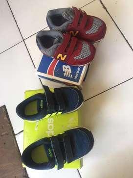 sepatu adidas neo dan newbalance