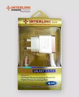 Interlink Gold cellphone charger suitable for Samsug / huawei