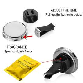 Auto Watch Automotive Vents Clip Air Freshener Clock
