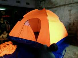 Tenda Dome Doublelayer/Singglelayer Ukuran 3x3 Kapsitas 7-8 Orang
