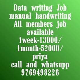 Easy manual handwriting job available