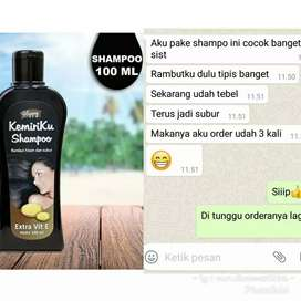 Shampo kemiri penyubur/penumbuh rambut
