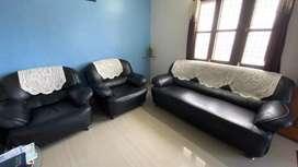 Black sofa set