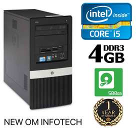 HP i5 CPU/ FULL 1 YEAR WARRANTY/4GB RAM/500GB HDD/ DVD ALSO/CALL NOW
