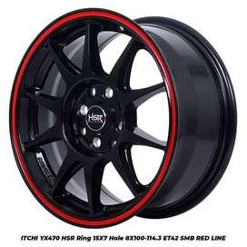 velg racing ITCHI YX470 HSR R15X7 H8X100-114,3 ET42 SMB/RL