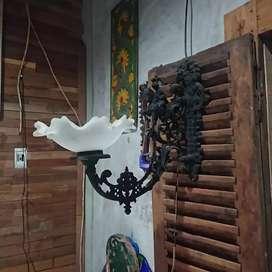 Lampu Tempel Dinding Motif Rangka Prajurit Naik Kuda Kuno