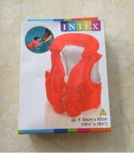 Baju Jaket Ban Renang Anak Merk Intex Merah Swimming set Kolam