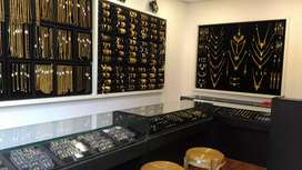Gold covering jewellery shop
