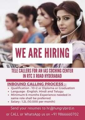 Telecaller for an IAS Coaching Academy