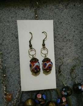 DIY earrings motif kuno asli