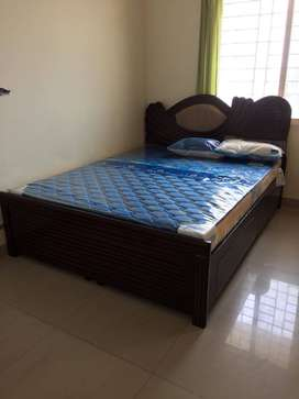 Queen size cot with storage..matress is not included