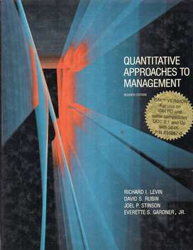 Quantitative Approaches To Management
