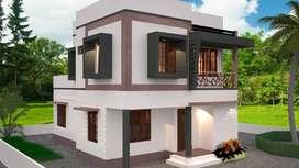 5 cent low budget customized villas are in kazhakootam Menamkulam
