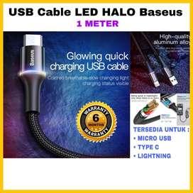 USB Cable LED Halo Baseus Original