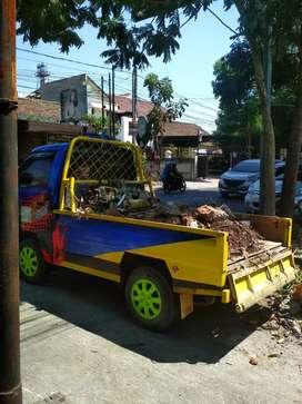Jasa Angkut puing bangunan, brangkal, tanah, daun, sampah gudang dll.