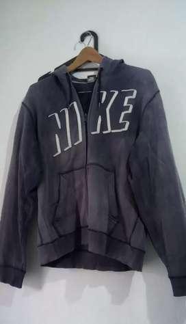 Jaket nike blue hoodie zipper murah size L free ongkir