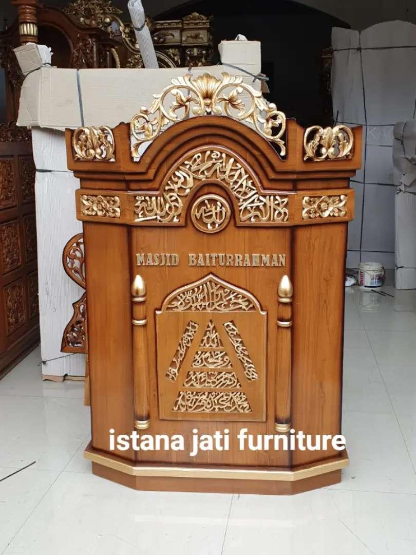 Mimbar masjid Tersedia Mimbar podium mimbar salina