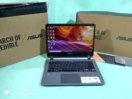 Laptop Asus A407Ma Slim Fullset Garansi resmi panjang