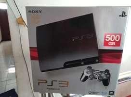 PS 3 SlimLike New Hdd 500 GB Lkp 50 Game fullset 2 Stik seperti baru