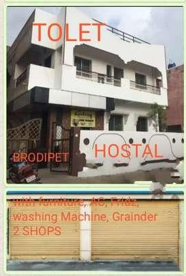 Brodipet  HOSTAL, 2 Shops 68 Bed, AC, fridz, washing Machine, Grainder