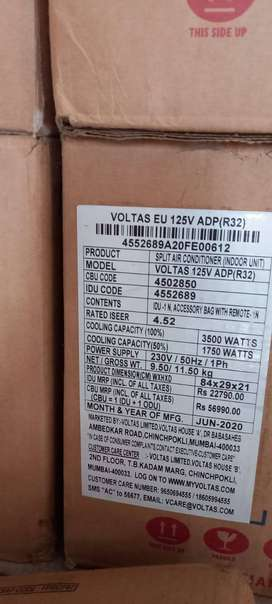 New packed AC 1ton