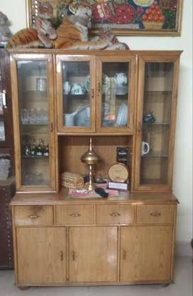 Wooden Crockery Cabinet & Side Table