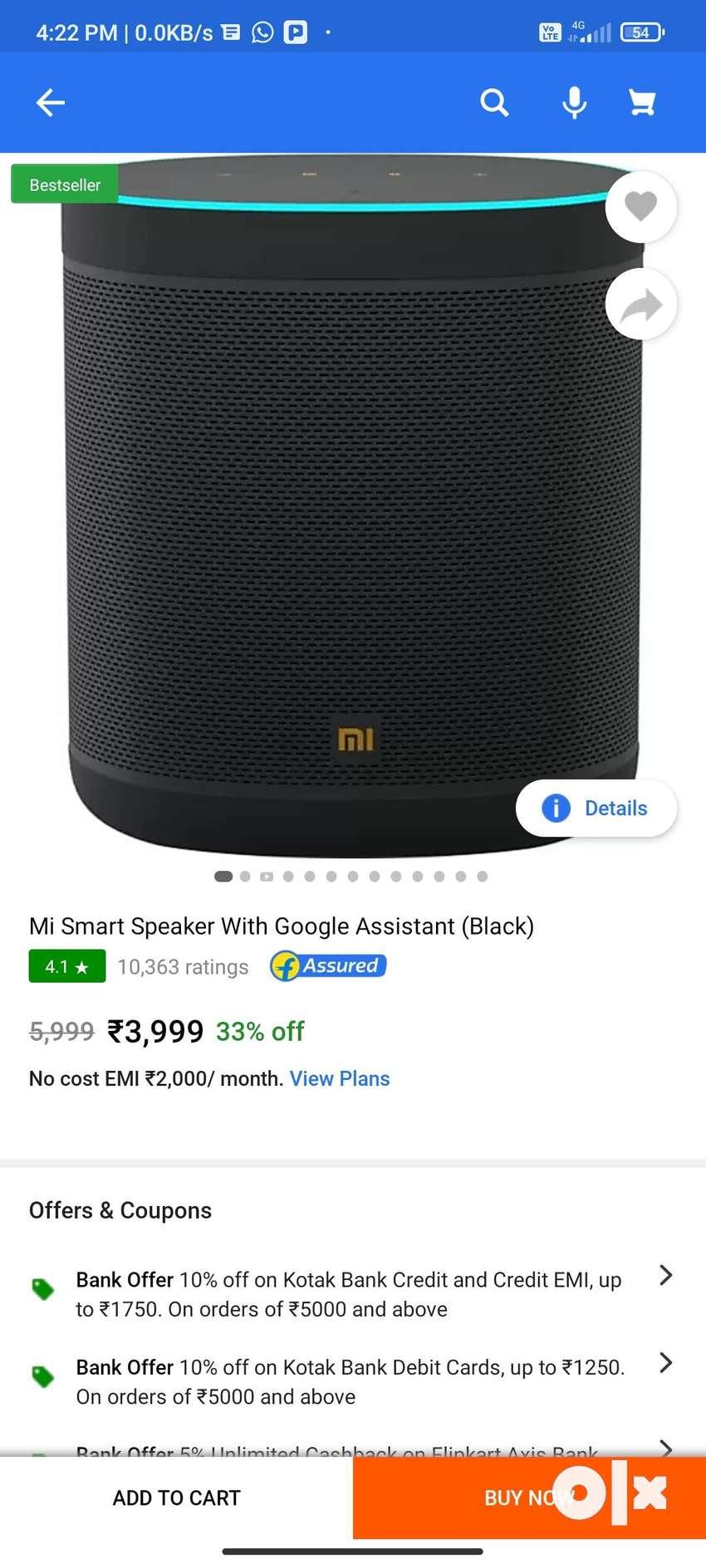 Mi smart home speaker