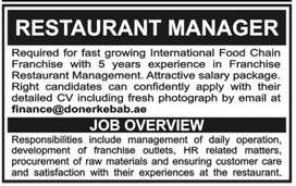 Resturant manager