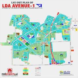 A best located one kanal residential plot in LDA Avenue 1,Lahore.