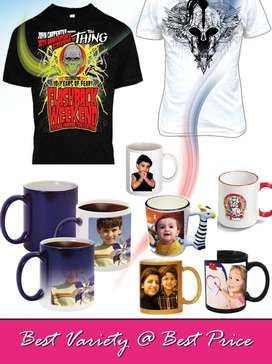 MUG PRINTING VISITING CARD PEN WALL CLOCK T SHIRTS PVC CARD MANY MORE