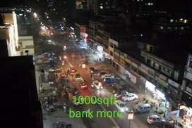 G +1 road facing shop on rent in bank more