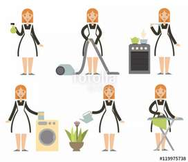 Need Female House Maid full time 24 hrs