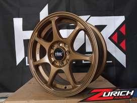 JUAL VELG HSR RACING R15X65 PCD 8X100-1143 BRONZ