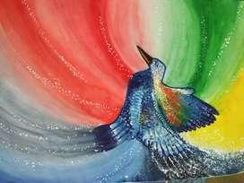 Bird texture painting