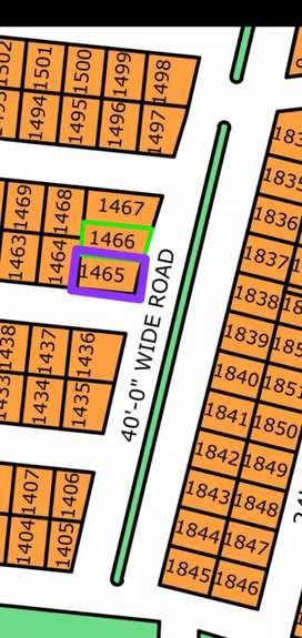 (L-1645) 80 Sq-yd Corner Plot North Town Residency Phase 1