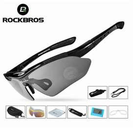 Rockbros Paket Kacamata 5 lensa (AntiUV, Polarized)