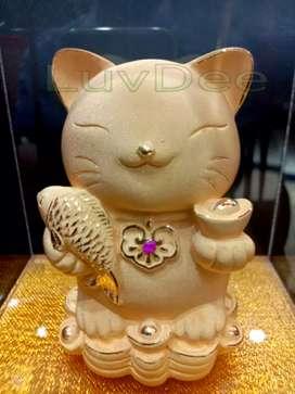 Patung kucing ikan 942 kado souvenir