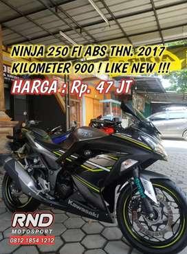 NINJA 250 FI ABS 2017 KM. 900 SEPERTI BARU !