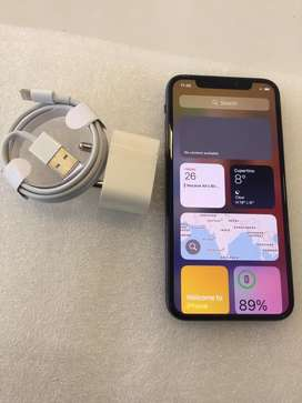 IPHONE X-256GB WITHOUT USED AND GREY COLOUR $#