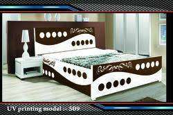 sale - buy new double bed with box 7100/- EMI available hai