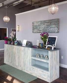 Meja kasir meja cafe meja barista meja receptionist meja coffee shop,