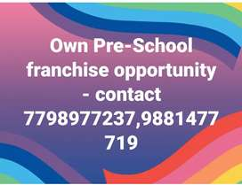 Own Pre-School franchise opportunity  - con77989@77237,98814@77719