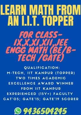 Learn MATH from an IIT'ian (Topper)