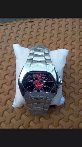 Di jual jam tangan merek Lamborghini lanino jam berat ,kaca tebal