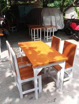 Set Meja Makan Kursi Tutup Kedai Cafe Restoran Warung Rumah Makan